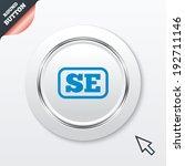 swedish language sign icon. se...