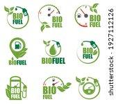 collection of bio fuel pump...   Shutterstock .eps vector #1927112126