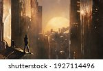 fantastic illustration with... | Shutterstock . vector #1927114496
