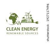 renewable energy icon with wind ... | Shutterstock .eps vector #1927117496