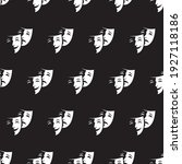 seamless pattern with comedy... | Shutterstock .eps vector #1927118186