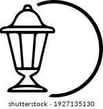 patio lighting unique outline...   Shutterstock .eps vector #1927135130