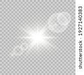 shining sun glare rays  lens... | Shutterstock .eps vector #1927140383