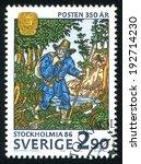 sweden   circa 1986  stamp... | Shutterstock . vector #192714230