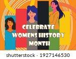 celebrating women's history...   Shutterstock .eps vector #1927146530