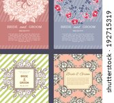 wedding invitation cards with... | Shutterstock . vector #192715319