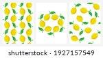 vector set of seamless patterns ... | Shutterstock .eps vector #1927157549