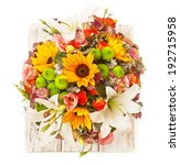 floral composition with lily ... | Shutterstock . vector #192715958