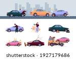 insurance car. crash auto... | Shutterstock .eps vector #1927179686