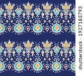 ikat geometric folklore... | Shutterstock .eps vector #1927183793