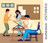 teamwork planning together... | Shutterstock .eps vector #1927196513