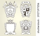 coat of arms and blazons  ... | Shutterstock .eps vector #1927197356