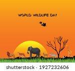 world wildlife day vector... | Shutterstock .eps vector #1927232606