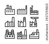 factory icon or logo isolated...   Shutterstock .eps vector #1927255823