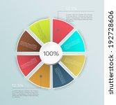 business infographics graph... | Shutterstock .eps vector #192728606