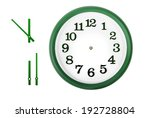 Green Wall Clock Isolated On...