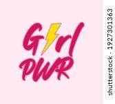 girl power with energy...   Shutterstock .eps vector #1927301363