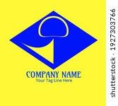blue geometric company logo ...