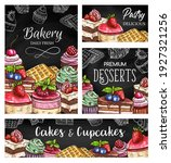 cakes and cupcakes sketch...   Shutterstock .eps vector #1927321256
