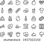 food line icon set   cupcake ... | Shutterstock .eps vector #1927322153