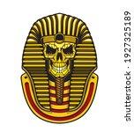 egyptian pharaoh skull vector... | Shutterstock .eps vector #1927325189