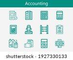 premium set of accounting line...