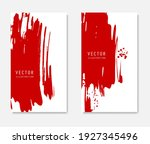 abstract ink brush banners set... | Shutterstock .eps vector #1927345496
