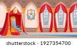 castle room with throne... | Shutterstock .eps vector #1927354700