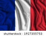 France flag realistic waving for design on independence day or other state holiday