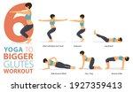 infographic 6 yoga poses for... | Shutterstock .eps vector #1927359413