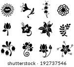 fantasy flower silhouette icon... | Shutterstock .eps vector #192737546