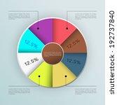 business infographics graph... | Shutterstock .eps vector #192737840