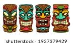 set of illustration of tiki... | Shutterstock .eps vector #1927379429