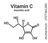 chemical structure of vitamin c.... | Shutterstock .eps vector #1927381280
