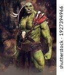 Fantasy Green Ogre Warrior...