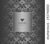 a luxury vintage vector card.... | Shutterstock .eps vector #192740003