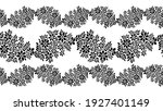 vector black and white floral... | Shutterstock .eps vector #1927401149