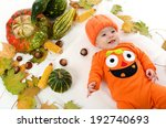 Happy Baby Infant In Jack O...