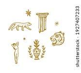 magical boho clipart greek... | Shutterstock .eps vector #1927407233