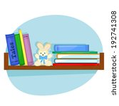 children's books and plush... | Shutterstock .eps vector #192741308