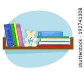children's books and plush... | Shutterstock .eps vector #192741308