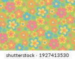 retro seamless pattern with... | Shutterstock .eps vector #1927413530