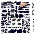 big set of trend paint  ink...   Shutterstock .eps vector #1927417040