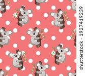 seamless pattern with cute... | Shutterstock .eps vector #1927419239
