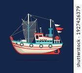 color image of a fishing boat... | Shutterstock .eps vector #1927426379