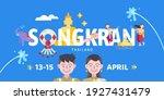 songkran thailand water...   Shutterstock .eps vector #1927431479