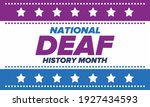 national deaf history month.... | Shutterstock .eps vector #1927434593