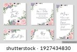 vector floral template for... | Shutterstock .eps vector #1927434830