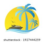 template for the summer holiday ... | Shutterstock .eps vector #1927444259