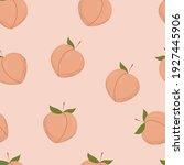 vector peach pattern. simle... | Shutterstock .eps vector #1927445906